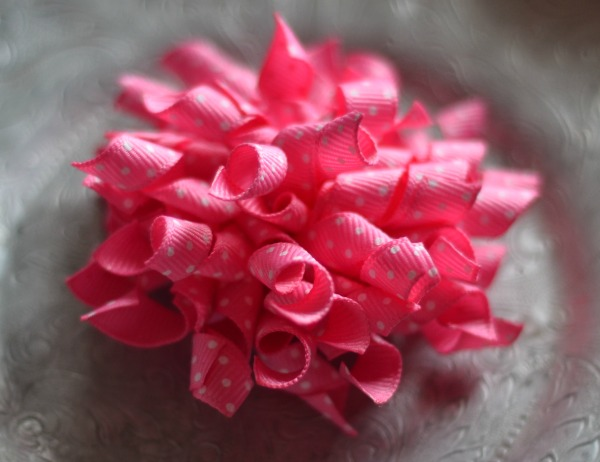 206 Pink swiss dot Korker