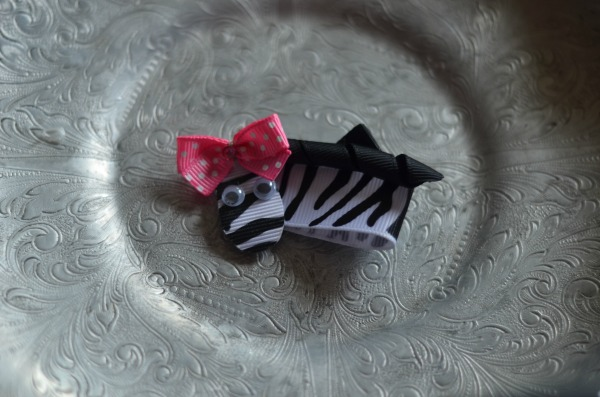 21 Zebra with Pink Bow