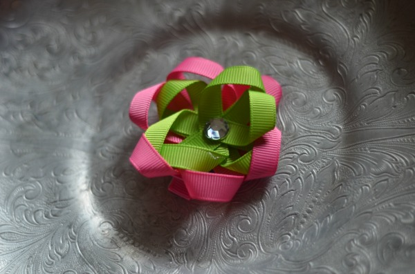 73 pink and lime flowerette