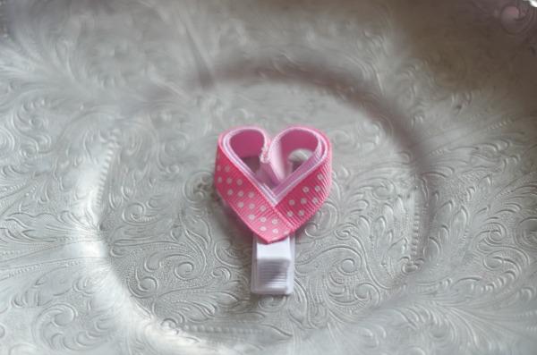 78 Pink polka dot Heart