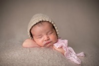 Everly in Khaki w/pink lace