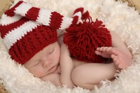 Finley in Red and White Our signature hat