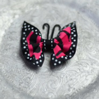 10 Hot Pink Polka Dot Butterfly