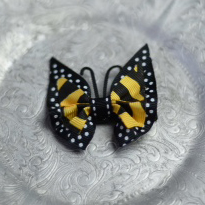 53 Yellow Polka Dot Butterfly